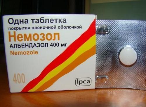 таблетки от глистов немозол