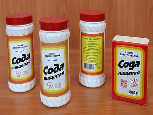 сода в упаковках