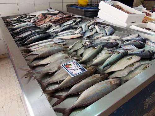 рыба лежит на прилавке фото
