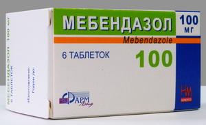 Мебендазол 6 таблеток